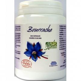 GPH Diffusion Huile de Bourrache bio 500mg 200 capsules