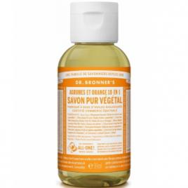 Dr Bronners Savon liquide aux Agrumes Orange 59ml Dr Bronners Savons liquides Bio Onaturel.fr