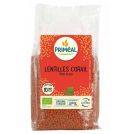 Primeal Lentilles corail 500g Primeal Légumineux / Céréales Bio Onaturel.fr