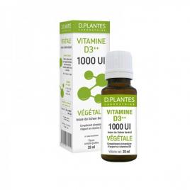 d-plantes D.Plantes  Vitamine D3++ 1000 UI Végétale  Flacon 20 ml d-plantes Compléments Alimentaires Bio Onaturel.fr