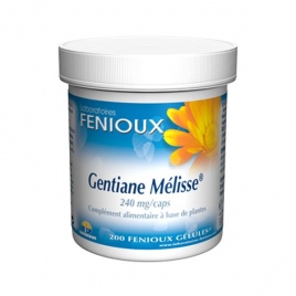 laboratoires Fenioux Gentiane Mélisse 200 Gélules