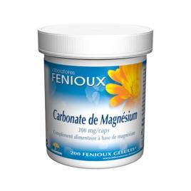 laboratoires Fenioux Carbonate de Magnésium 200 Gélules laboratoires fenioux Anti-stress/Sommeil Onaturel.fr