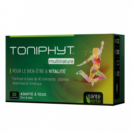 Santé Verte - Toniphyt Multinature - 30 Comprimés sante verte Accueil Onaturel.fr