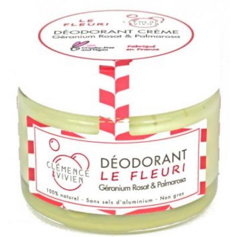 Clemence & Vivien Baume déodorant Le Fleuri 50g Clemence & Vivien Déodorants Bio Onaturel.fr