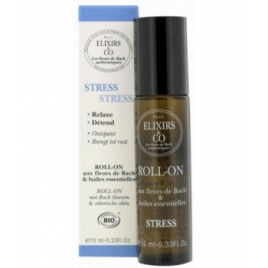 Elixirs And Co Roll'on STRESS 10ml Elixirs And Co Roll-on huiles essentielles Bio Onaturel.fr