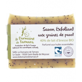 Le Domaine De Tamara Savon exfoliant aux graines de pavot à 40% de lait d'ânesse Le Domaine De Tamara Accueil Onaturel.fr