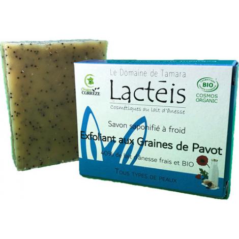 Le Domaine De Tamara Savon exfoliant aux graines de pavot à 40% de lait d'ânesse