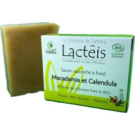 Le Domaine De Tamara Savon macadamia et ses pétales de calendula à 40% de lait d'ânesse Le Domaine De Tamara Accueil Onaturel.fr