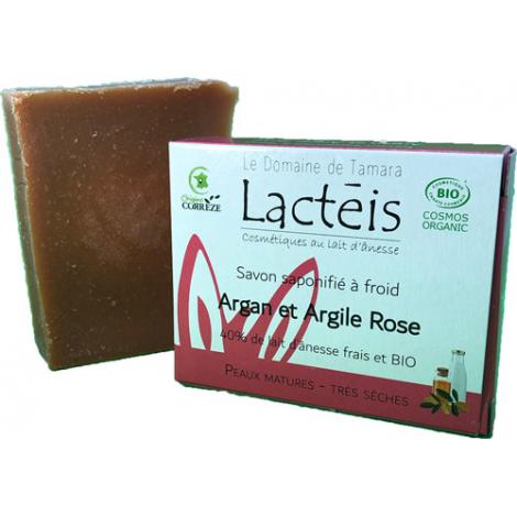 Le Domaine De Tamara Savon argan et argile rose à 40% de lait d'ânesse
