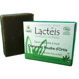 Le Domaine De Tamara Savon chanvre menthe et poudre d'ortie à 40% de lait d'ânesse Le Domaine De Tamara Accueil Onaturel.fr
