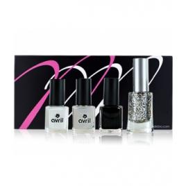 Coffret MondeBio Box vernis Black and White Mondebiobox Cadeaux pour Elle Onaturel.fr