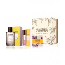 Les Senteurs Gourmandes Coffret verger prune jasmin eau de parfum 100 ml + vaporisateur 15 ml + savon 100g