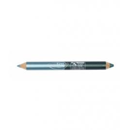 Purobio Cosmetics Duo crayon night : Kajal turquoise et Fard à paupière vert émeraude 2.8g