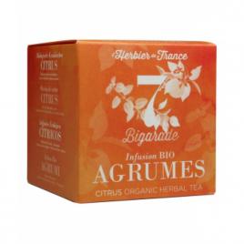 Herbier De France Bigarade infusion bio Agrumes 15 mousselines 22.5g Herbier De France Anti-stress/Sommeil Onaturel.fr