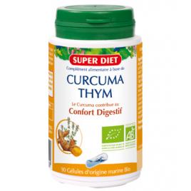 Super Diet Curcuma et Thym bio 90 gélules Super Diet Accueil Onaturel.fr