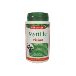 Super Diet Myrtille 90 gélules marines 210mg Super Diet Accueil Onaturel.fr