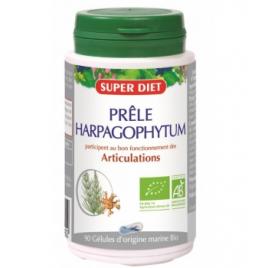 Super Diet Prêle et Harpagophytum bio 90 gélules marines 210mg Super Diet Accueil Onaturel.fr