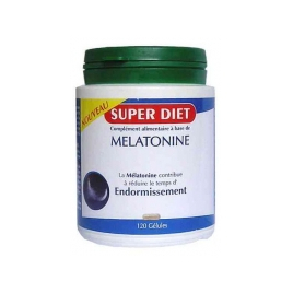 Super Diet Mélatonine 120 gélules 230mg + 20% offertes Super Diet Accueil Onaturel.fr