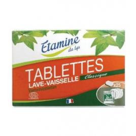 Etamine du Lys 25 Tablettes Lave vaisselle Sans Parfum