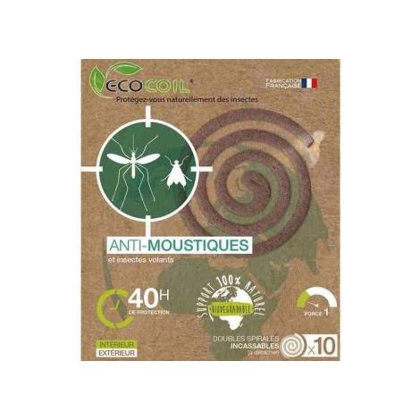 Etamine du Lys Spirale Anti Moustique Ecocoil 110 Etamine du Lys Anti-mites / Anti-moustiques / Anti-insectes Onaturel.fr