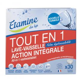 Etamine du Lys 30 Tablettes Lave vaisselle tout en un Etamine du Lys Produits Lave-vaisselle Bio Onaturel.fr