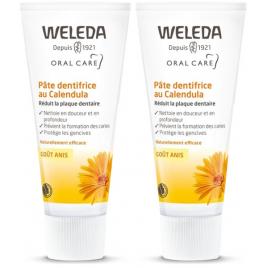 Weleda Duo Pâte dentifrice au Calendula goût anis 75ml x2