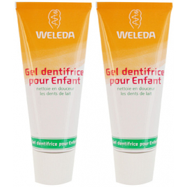 Weleda Duo Gel dentifrice enfant dents de lait 50ml Weleda Accueil Onaturel.fr