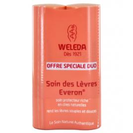 Weleda Duo Soin des lèvres Everon riche en cires naturelles 2X4g