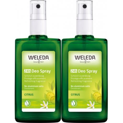 Weleda Duo Déodorant spray Citrus 2X100ml Weleda Accueil Onaturel.fr