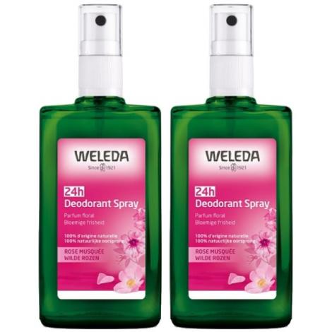 Weleda Duo Déodorant spray Rose de Damas 2X100ml Weleda Accueil Onaturel.fr