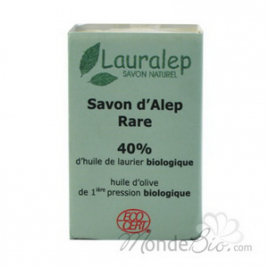 Lauralep Savon d'Alep Rare 40% huile de Laurier 150g Lauralep Hygiène & Beauté Bio Onaturel.fr