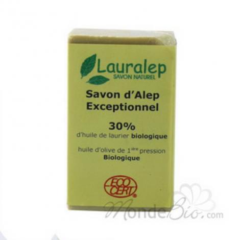 Lauralep Savon d'Alep Exceptionnel 30% huile de Laurier 150g Lauralep