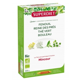 Super Diet Quatuor Thé vert Minceur Bio 20 ampoules de 15ml