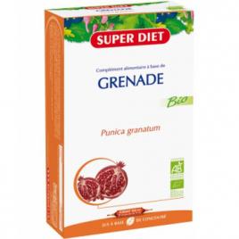 Super Diet Jus à base de concentré de Grenade 20 ampoules de 15ml soit 300ml Super Diet Categorie temp Onaturel.fr