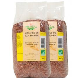 Primeal Lot de 2 paquets de graines de lin brun 500g Primeal Accueil Onaturel.fr