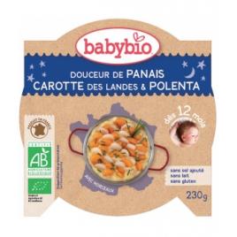 Babybio assiette Bonne Nuit Douceur de Panais Carottes des landes, Polenta 230g dès 12 mois Babybio Assiettes / Bols bébé bio...