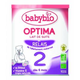 Lait de suite Babybio 2 Optima à partir de 6 mois 900g Babybio Laits infantiles Bio Onaturel.fr