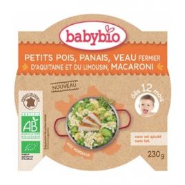 Babybio Assiette Petits Pois Panais Veau et Macaroni dès 12 mois 230g Babybio Alimentation bébé Onaturel.fr