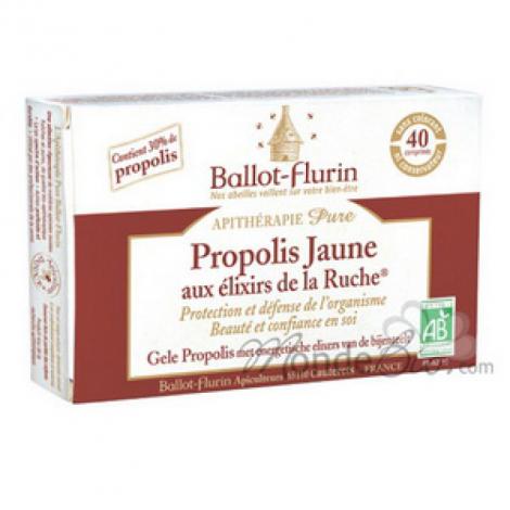 Ballot Flurin Propolis Jaune aux élixirs de la Ruche Beauté intérieure 40cp Ballot Flurin