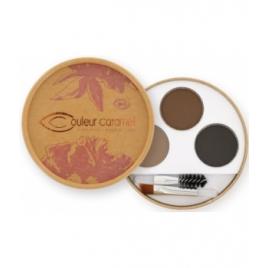 Couleur Caramel Kit sourcils Brunes 40g Couleur Caramel Yeux bio Onaturel.fr
