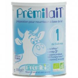 Prémilait Lait pour nourrissons au Bifidus actif sans lactosérum 0 à 6 mois 1er âge 900g Prémilait Accueil Onaturel.fr