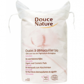 Douce Nature 50 Ovales à démaquiller coton bio 50g Douce Nature Accessoires de Maquillage Onaturel.fr