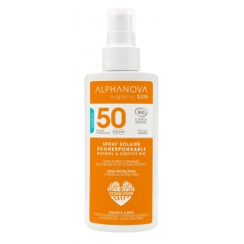 Alphanova Spray solaire très haute protection bio SPF50 125g Alphanova Protection solaire Bio Onaturel.fr