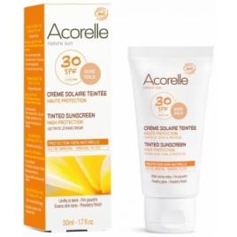 Acorelle Crème Solaire teintée SPF 30 50ml Acorelle Protection solaire Bio Onaturel.fr