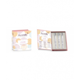 Acorelle Coffret Mes Essentiels 3 parfums Roll on 10ml Acorelle Roll-on huiles essentielles Bio Onaturel.fr