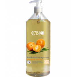 C'bio Bain et douche Agrumes Mandarine Orange 1L C'bio Gels douche - bains moussants Onaturel.fr
