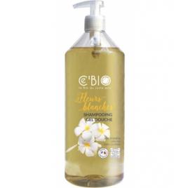 C'bio Shampooing douche Fleurs Blanches 1L C'bio Shampooings Bio et Soins capillaires Onaturel.fr