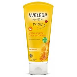 Weleda Crème lavante corps et cheveux au Calendula bébé 200ml