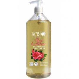 C'bio Shampooing douche Rose d'Antan 500ml C'bio Shampooings Bio et Soins capillaires Onaturel.fr