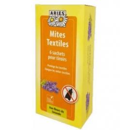 Aries Mites Textiles sachets de protection des tiroirs 6 unités Aries Anti-mites / Anti-moustiques / Anti-insectes Onaturel.fr